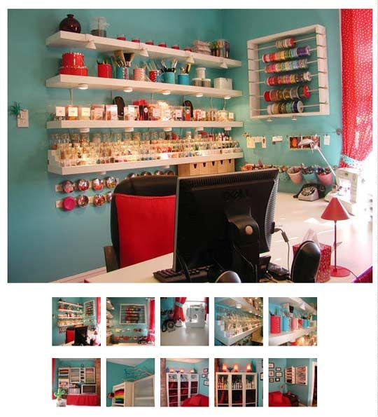 I love everything about this craft room-must go to the website and look through all the images to truly appreciate it.
