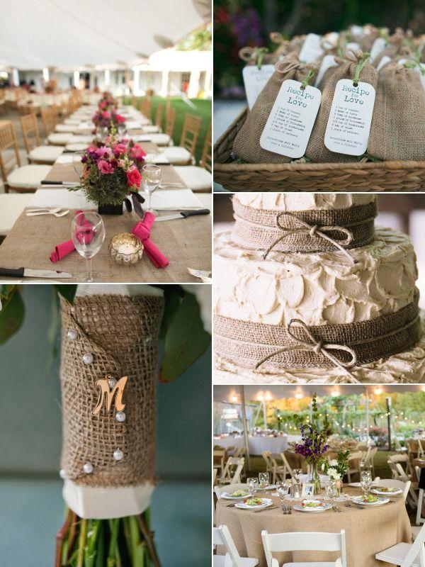 85 best WEDDING Burlap Lace images on Pinterest Burlap lace