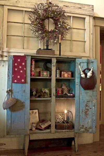 Beautiful blue cupboard. Primitive AntiquesPrimitive ... - 341 Best Primitive Cupboards Images On Pinterest Primitive