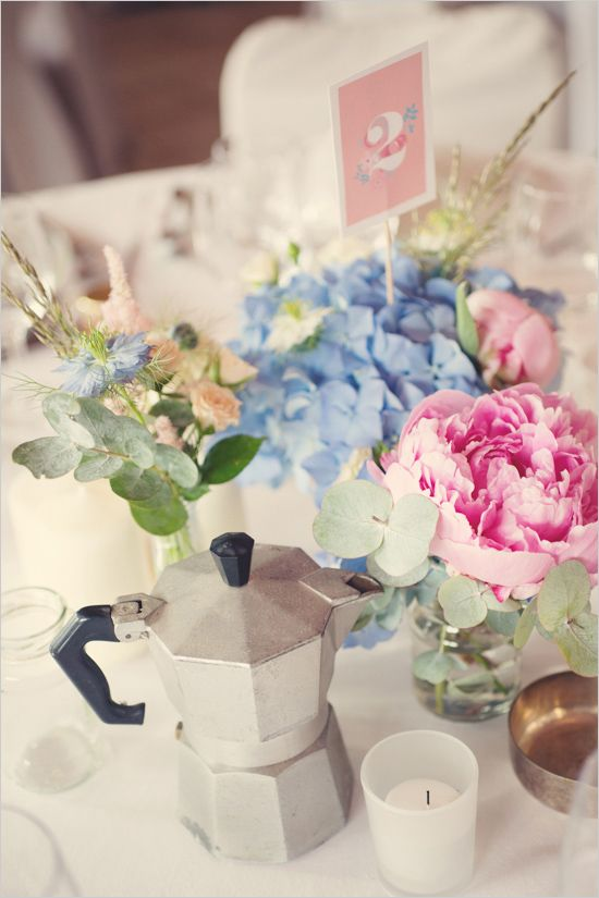 Table decor ideas. Captured By: Anne-Claire Brun http://www.weddingchicks.com/2014/06/05/vintage-chic-french-wedding/