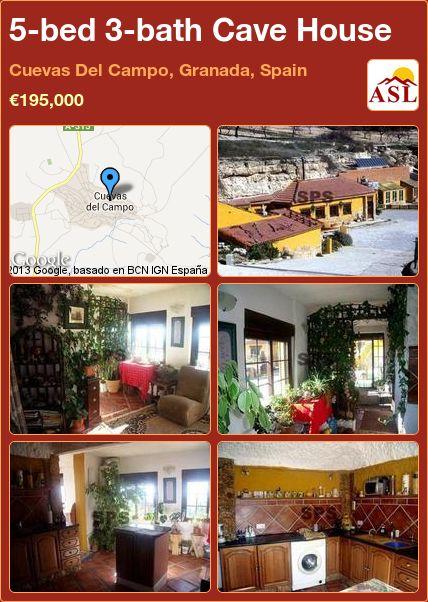 5-bed 3-bath Cave House in Cuevas Del Campo, Granada, Spain ►€195,000 #PropertyForSaleInSpain