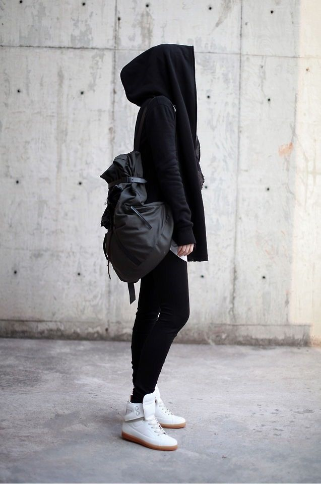 <3  Fashion, style, street style, clothing, backpack, oversize hoodie