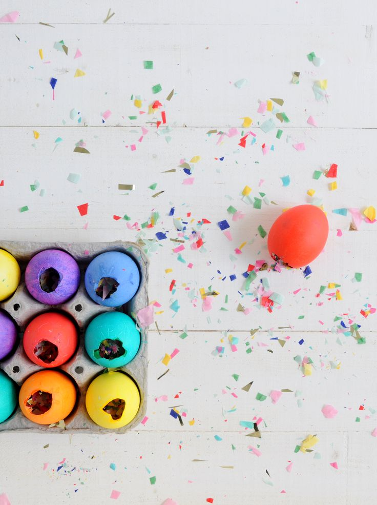 Babiekins Magazine Craftykins // DIY Confetti Filled Easter Eggs
