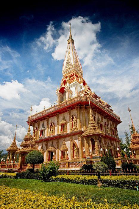 Wat Chalong temple , Phuket, Thailand