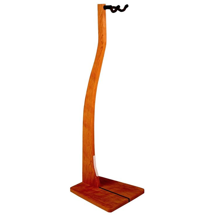 Wooden Guitar Stand - Handcrafted Solid Wood Floor Stand