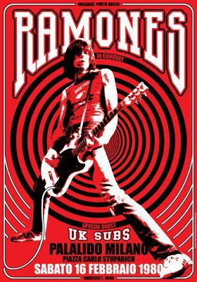RAMONES Uk Subs - 16 February 1980 Milan Italy