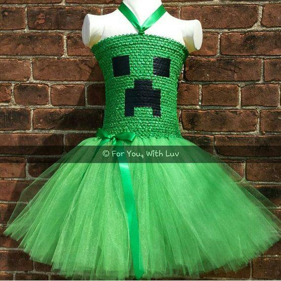 halloween tutu dress creeper mine craft tutu by foryouwithluv - Halloween Tutu Dress