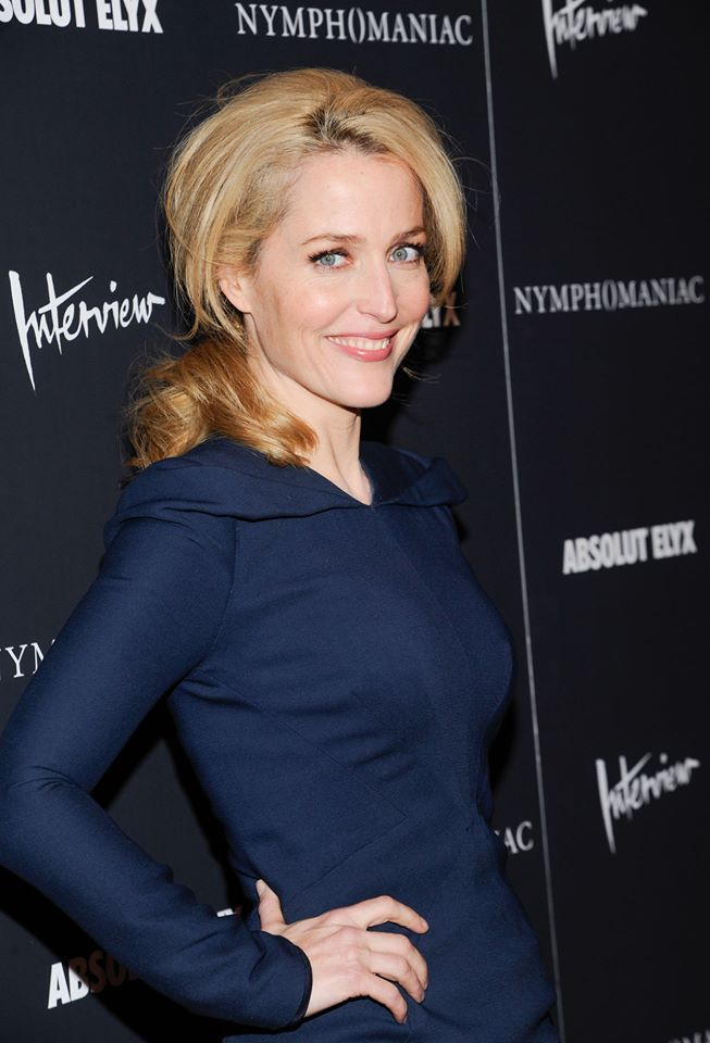 Gillian on the red carpet at the premiere of Nymphomaniac: Volume I at the Museum of Modern Art in New York City, NY March 13th, 2014.