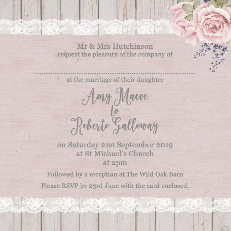 Sample Wedding Invitation Text Message: 32+ Elegant Picture Of Example Wedding Invitations