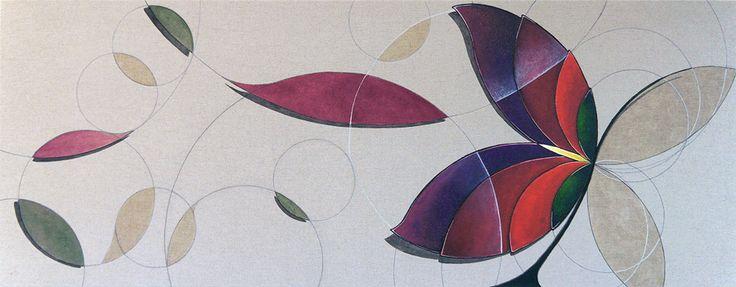 Flor de Maio é uma pintura sobre tecido (linho rústico) de grande formato feita por encomenda em 2013 para uma coleção de arte particular de São Paulo SP.