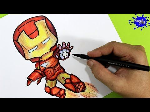 How to paint Ironman Step by Step / Como pintar a Ironman  paso a paso / Easy art YouTube