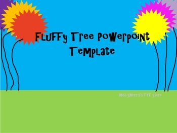 Fluffy Tree PowerPoint Template for Dr. Seuss or Earth Day ...