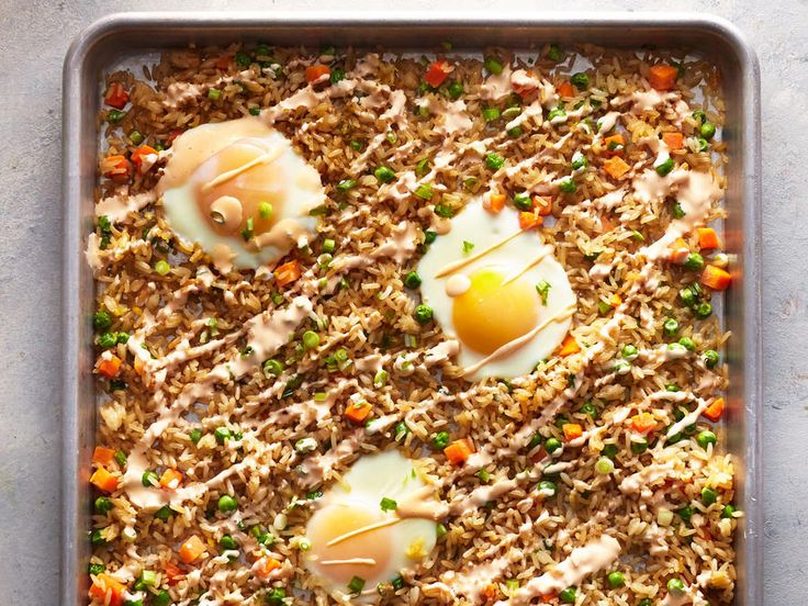 Top fried rice with rich, runny egg yolk and creamy Sriracha mayo for added texture and flavor. You don't need a wok for perfectly cooked...