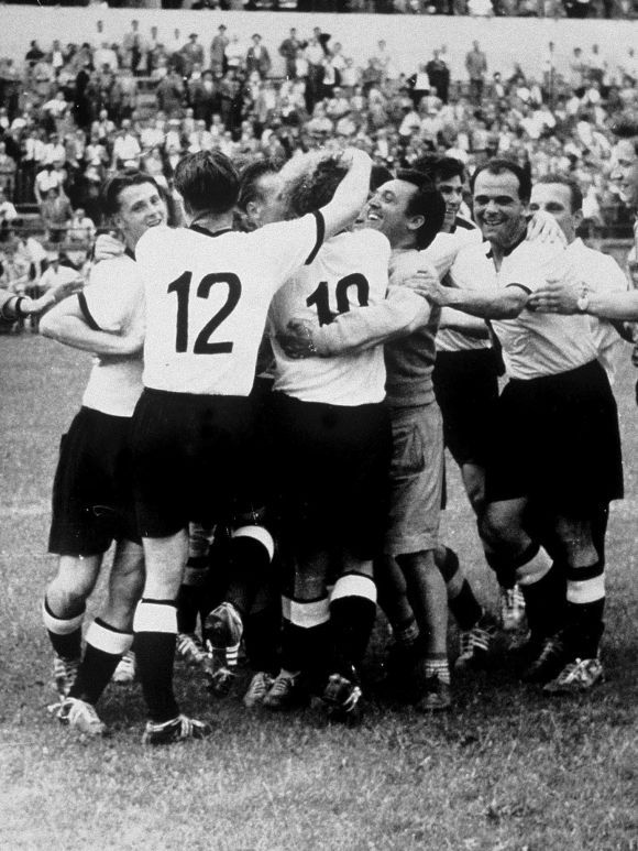 Germany Celebrate After Winning The 1954 Fifa World Cup Switzerland