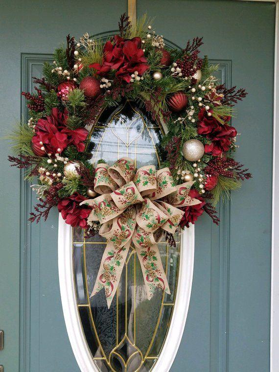 50++ Diy christmas decorations for front door inspirations