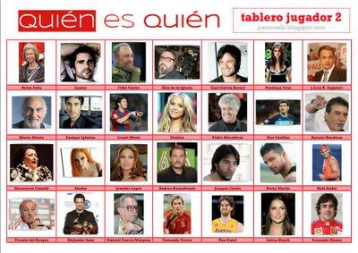 Quién es quién (mundo español y latinoamericano - tablero 2)  http://jramonele.blogspot.fr/search/label/juegos