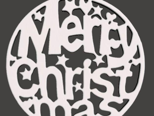 Christmas Tree Ornament - Merry Christmas Flat