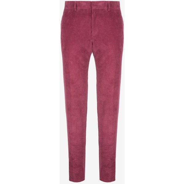 Bally Corduroy Carrot pants Men's corduroy cotton pants in cinnabar ($675) ❤ liked on Polyvore featuring men's fashion, men's clothing, men's pants, men's casual pants, mens slim fit corduroy pants, men's casual cotton pants, mens corduroy pants, mens red corduroy pants and mens cotton pants