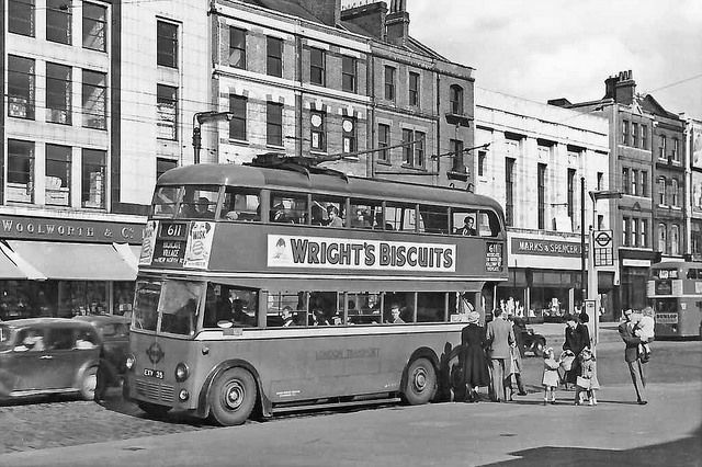 Holloway Road, Woolworth's & Marks & Spencer 1950's | Flickr