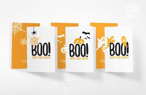 * BOO Happy Halloween * LOT de 3 Cartes de voeux deux volets TÉLÉCHARGEMENT NUMÉRIQUE INSTANTANÉ 3 FICHIERS FORMAT JPG 300 DPI  À noter : - Les couleurs peuvent varier selon l'écran, le papier utilisé ou l'imprimante - Il sagit dun achat numérique, aucun envoi postal et cadre non fourni  MODE DEMPLOI  - Choisissez votre fichier, et après lachat vous serez mené par email à la page de téléchargement - Téléchargez le fichier - Imprimez le (pour un meilleur résultat, utilisez du papier bristol…