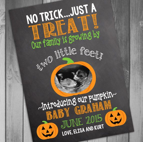 Pregnancy Announcement Halloween Pregnancy Baby by CLaceyDesign, $15.00