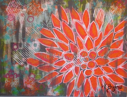 Orange Flower : This painting is just amazing