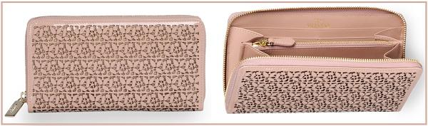 Valentino wallet in Blush $495