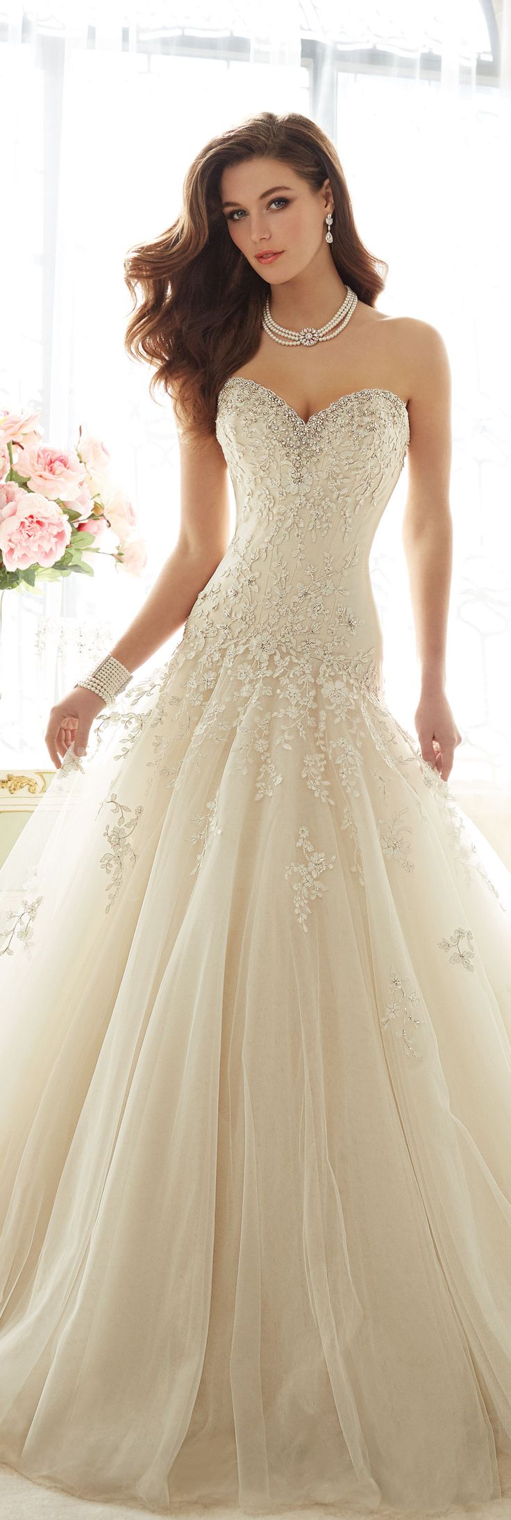 The Sophia Tolli Spring 2016 Wedding Dress Collection - Style No. Y11637 - Marquesa #laceandtulleweddingdress