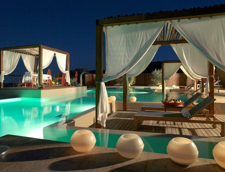 ESP: Vitality Pool de noche / EN: Vitality Pool Night. Aloe Spa (Gran Canaria).