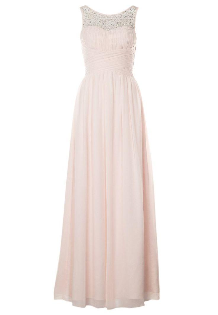 Robe rose pastel longue