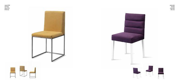 Peter y Mila unas #Sillas diferentes con diseño muy cómodas en metal cromo o madera, cual te gusta mas?