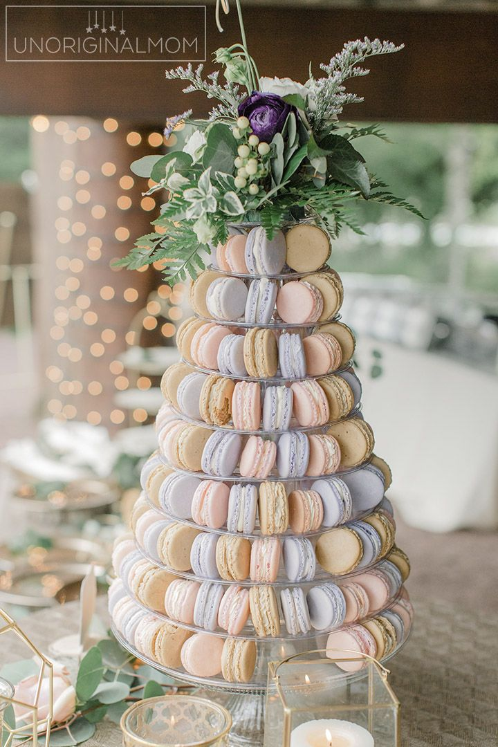 Macaron Tower For A Wedding Wedding Catering Wedding Desserts