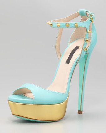 Ruthie Davis® Jupiter Studded Platform Sandal €713 Summer 2013 #High #Heels