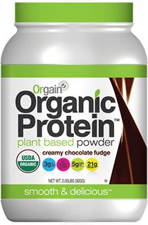 I can't afford Shakeology, so I use Orgain brand Cream Chocolate Fudge protein powder to make my shakes that count as meal replacements and snacks.  Mix with Almond Milk, Water, or Coconut Milk--yummy and 23 grams of protein!
