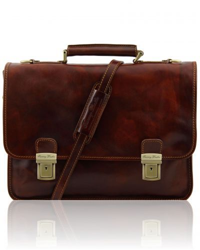 FIRENZE TL10028 Leather briefcase 2 compartments