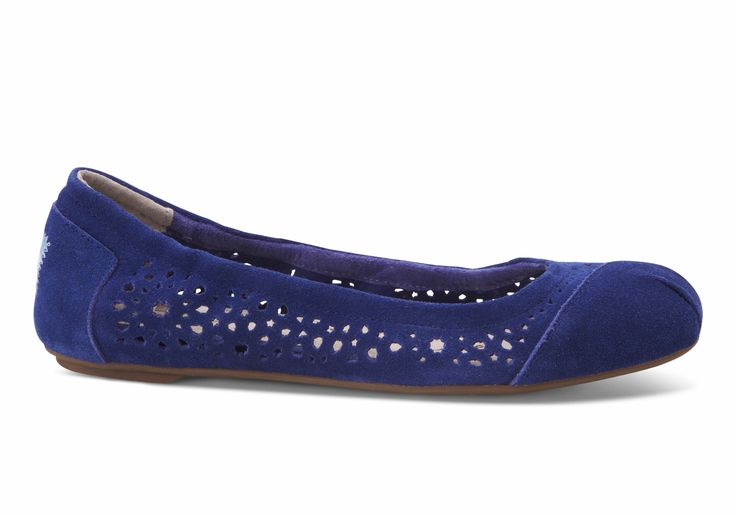 Oh this could be trouble...Blue Moroccan Cutout Women's Ballet Flats