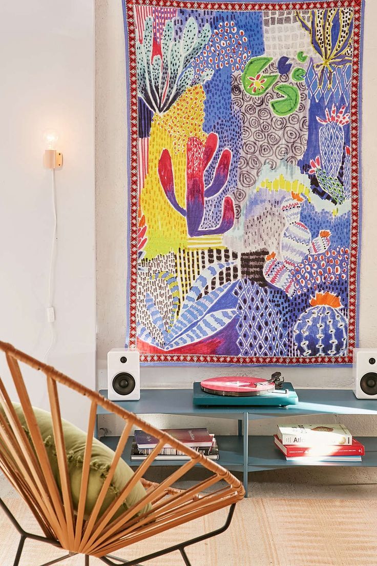 Lital Gold Artist Series Cactus Tapestry - Urban Outfitters