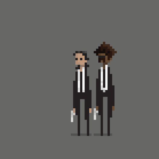 Animated 8-bit Comic Pixel Art of super heroes (4)