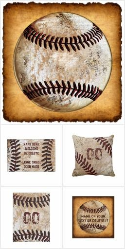 Vintage Baseball Decor PERSONALIZED with Players Number many great gift ideas!