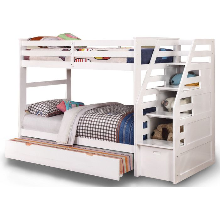 Wildon Home ® Cosmo Twin Bunk Bed with Trundle and Storage & Reviews | Wayfair
