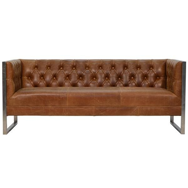 Otto Industrial 2 Seater Chester Club Sofa Best Leather Sofa Modern Leather Sofa Leather Sofa