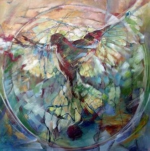 Song of the Wind by Shelley Adams. My first awakenings in art (actually 'making art') was as a 'once-a-week' learner-artist at Shelley's home in Hermanus. It was many hours spent in a happy place that I'll never forget.