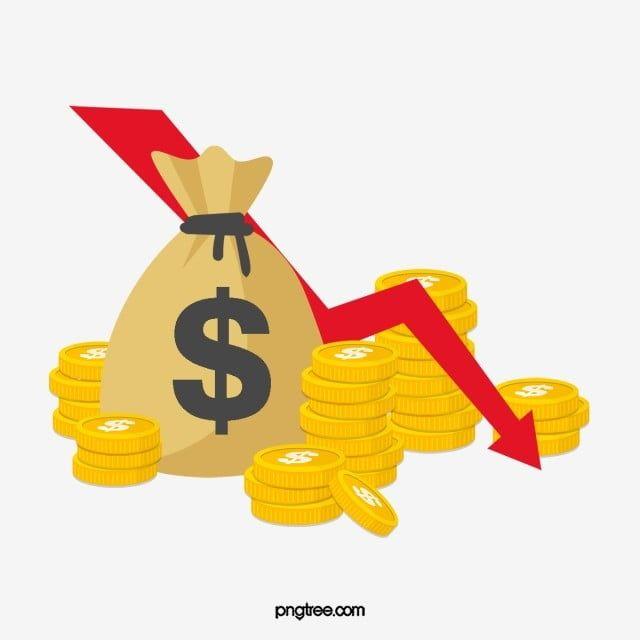 Elemento De Bolsa De Dinero En Dolares De Depreciacion De La Moneda Economica A La Baja Imagenes Predisenadas De Bolsa De Dinero Dolar Oro Png Y Psd Para Des Bolsas De
