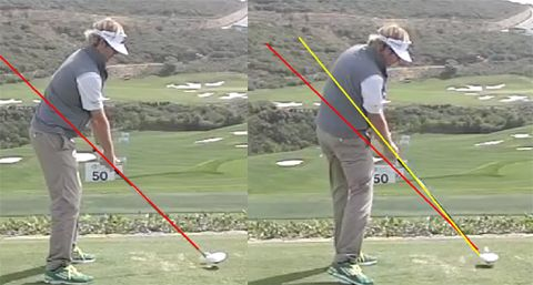 Today I have another great article by Jeff Richmond that explains the Hybrid Golf Swing Plane he advocates and teaches. Let's get started... The Hybrid Golf Swing Plane By Jeff Richmond A big tenant of the one plane golf swing is to return the golf club back to the same position it was (in terms of the shaft plane line) at address. That's what Moe Norman and Ben Hogan did. But let's see how some of the top golfers in the last 10 years fare as far as that is concerned. 1. Tiger Woo...