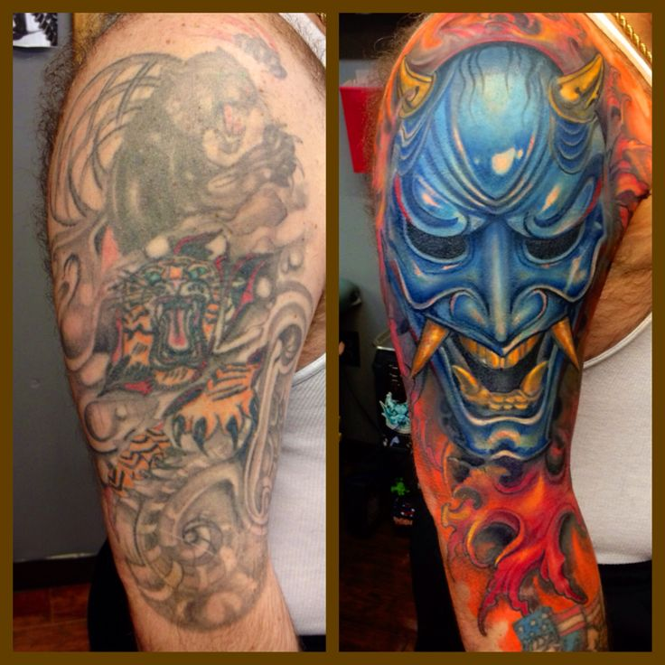Recent cover up. Experimenting with my new palette available soon they technical tattoo supply (MoMs ink)