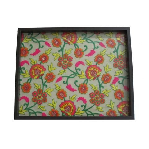 Floral Embroidered Wooden Serving Tray - FOLKBRIDGE.COM | Buy Gifts. Indian Handicrafts. Home Decorations.