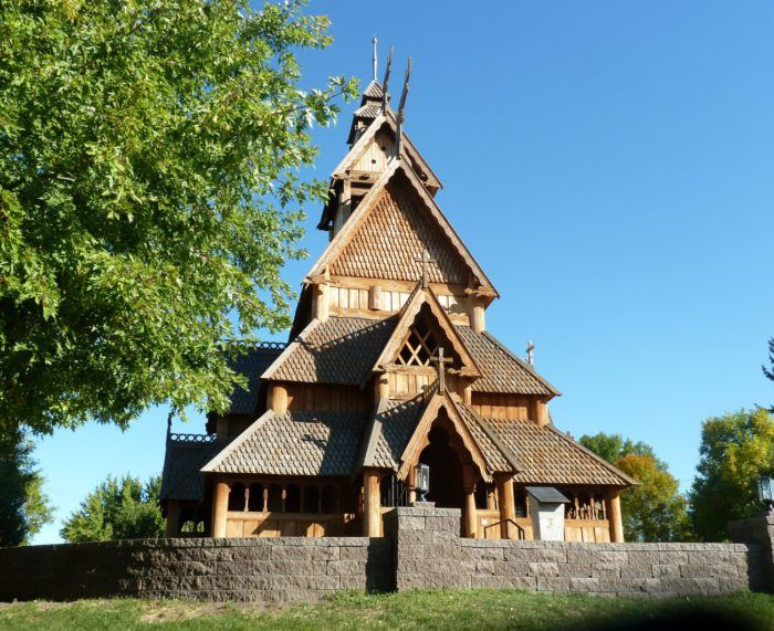 4 Scandinavian Heritage Park Minot Architecture Viking Hall Church