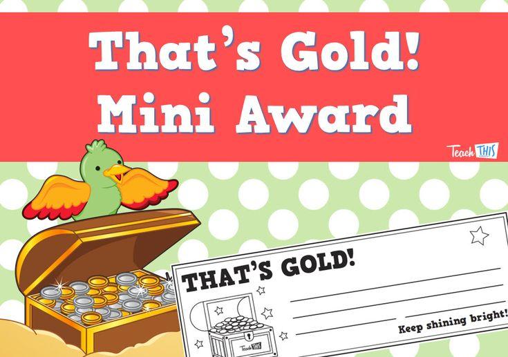 That's Gold Mini Award