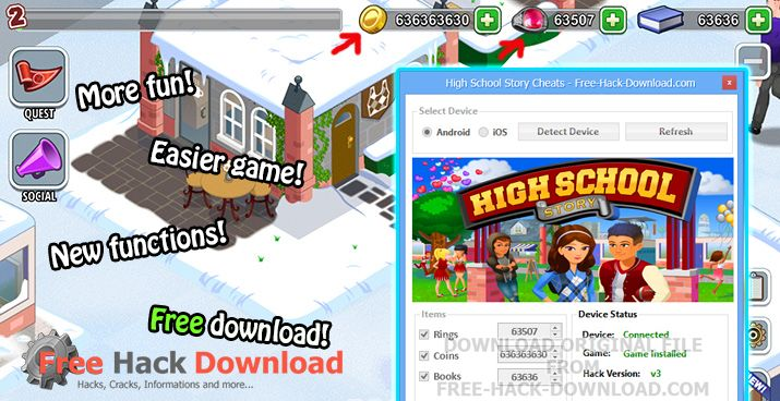 High School Story Cheats download: http://free-hack-download.com/2015/10/high-school-story-cheats.html/