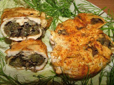 Smak Zdrowia: Pieczarkowe sakiewki z kurczaka